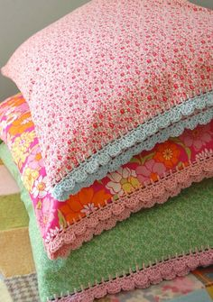 crochet pillowcase