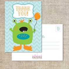 Thank you postcards to match your cute by tickledpinkpaperie, $25.00