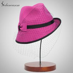 100% wool from Australian Cloche Sexy Mesh Hats Ladies Formal Hat Lady Cap Felt Hat In Women's Fedoras Do you want it #shop #beauty #Woman's fashion #Products #Hat