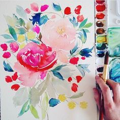 """1,186 Likes, 5 Comments - Jenna Rainey (@monvoirco) on Instagram: """"Don't forget to register for #monvoirworkshops this Saturday, April 8th! #floralwatercolor from…"""""""