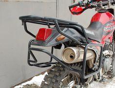 Complete rack luggage rack system for Kawasaki KL250 Super Sherpa