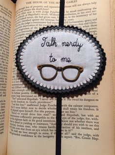 Talk nerdy to me bookmark on Etsy, $15.00
