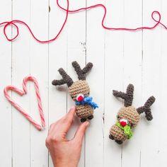 Make this cute amigurumi Rudolph! FREE, thanks so for kind share xox