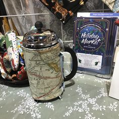 French press cozy's that fit most French presses. Available in and made by Anna's Haute Tops. Holiday Market, French Press, Gift Guide, Kitchens, Anna, The Unit, Cozy, Entertaining, Marketing