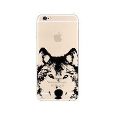 Husky Wolf Dog Akita Inu iPhone 6s 6 Transparent Clear Soft Case