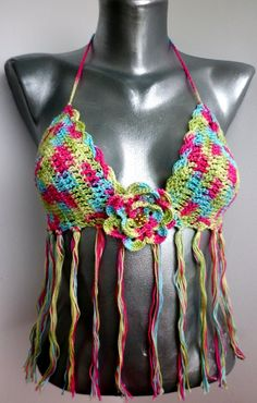 7510e74a8779e FREE SHIPPING Sexy Crochet Bra Bandeau Fringes Womens by EliSmile