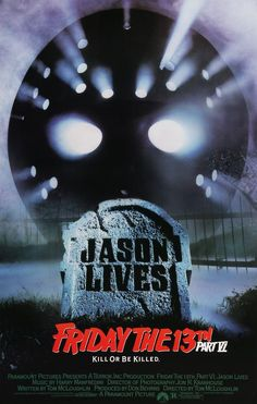 to - Watch Jason Lives: Friday the Part VI online full and free now: Tommy Jarvis returns to the graveyard to make sure Jason Voorhees is dead and accidentally brings him back to life. Horror Icons, Horror Movie Posters, Horror Films, Jason Voorhees, Scary Movies, Good Movies, Halloween Movies, Funny Movies, Cult Movies