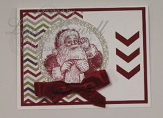 Here is a quick and easy Christmas card made using Stampin' Up! Santa's List stamp set.  Love the pop to it with the glitter paper.  To see the card, and a list of materials used swing by my blog, and also follow my boards :) Made by Lisa Bowell-Stampin' Up! Demonstrator @ lisastamps.com