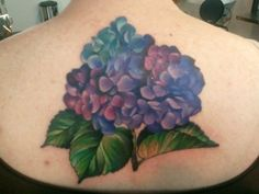 Hydrangea Tattoo- Hoping someone can fix my hydrangea tattoo on my wrist after Rob is born! I love this!