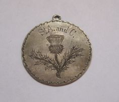 Large Early Victorian Silver Coin Love Token Charm Pendant | eBay