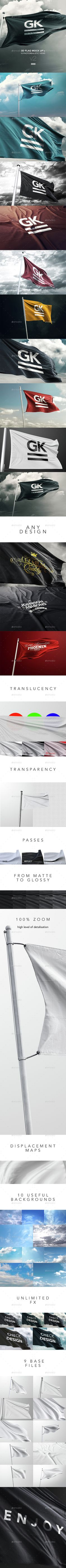 10 Realistic 3D Flag Mock-Up V2.0. Download here: http://graphicriver.net/item/10-realistic-3d-flag-mockup/14602197?ref=ksioks