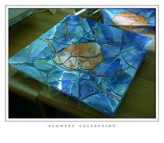 Antonella. Technique Used: glassfusing-decoupage.