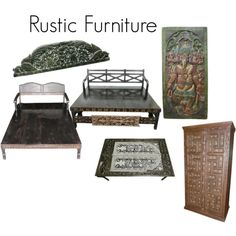 """""""Rustic Furniture"""" by mogulinteriordesigns on Polyvore"""