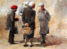 Andre Kohn, renowned Impressionist artist, currently resides and paints at his home in Scottsdale, Arizona, where he owns his own gallery: Andre Kohn Fine Art. Painting People, Figure Painting, Art Texture, Impressionist Artists, Illustrations, Pictures To Paint, Figurative Art, Artist At Work, Art World
