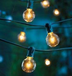 Cafe Globe String Lights (g40 Bulb Size) | Recycled Bride