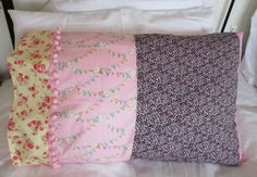 Pillowcases, Sleepover pillowcase, girls pillowcase, chintzy pillowcase, floral pillowcase, individual, Personalised, carrycase, handmade by beadiesbyjo on Etsy