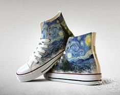 Custom Made Shoes, Custom Vans, Customised Shoes, Custom Converse, Vans Slip On, Slip On Shoes, Art Shoes, Custom Chuck Taylors, Painted Shoes