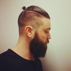 undercuts men beard tattoo - Google Search