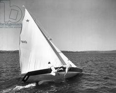 Star class sailboat (b/w photo) / Ewing Galloway