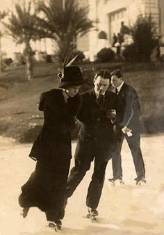 Roller skating 1930s style.