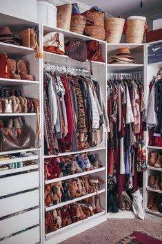 30 Ideas For Small Clothes Closet Organization Diy Wardrobes Bedroom Closet Design, Master Bedroom Closet, Closet Designs, Bathroom Closet, Bedroom Decor, Wardrobe Organisation, Small Closet Organization, Organization Ideas, Closet Storage
