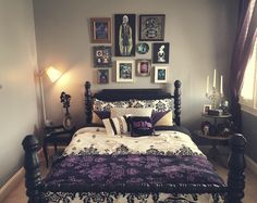 "gothiccharmschool: "" stayupallday-sleepupallnight: "" My haunted mansion guest room is finally finished and I love how it turned out. Tomb sweet tomb!! "" You did a wonderful job! So wonderful! """