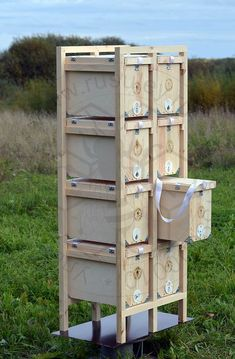 Tower of Eight units Bee apiary. Наше пчеловодство