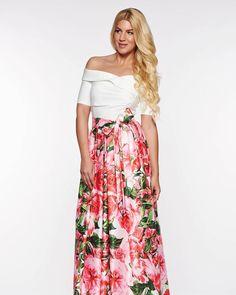 #rochie #rochii #rochiielegante #royalwedding #rochiiocazie #rochiielegante #rochite #fashionaddict #fashionista #rochii #shoppingaddict #medelin.ro  www.medelin.ro / vezi mai multe produse Fashion Addict, Fashion Online, Satin, Floral, Skirts, Shopping, Tulle, Elastic Satin, Skirt