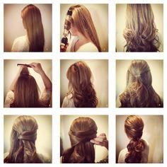 Pretty half up/half down hair