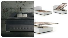 The Raja bed base is distinguished by a thick upholstered side frame.Milano Bedding http://www.milanobedding.it/