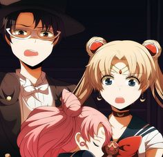 """""""Sailor Moon . . . Tuxedo Mask . . . You should understand that she is your daughter."""""""