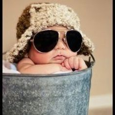 What a cool dude! Adorable newborn baby boy photo