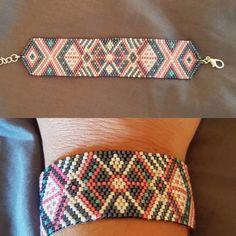 Bracelet Perles Miyuki - Tissage peyote - Modèle Perles & Co