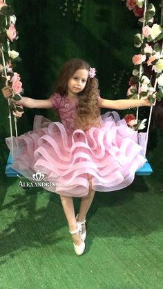 alexandrina is part of Kids fashion dress Please take the measurements before ordering to ensure the correct size Note please note that monitors displays colors differently and the color - Kids Frocks, Frocks For Girls, Gowns For Girls, Little Girl Dresses, Girls Dresses, Flower Girl Dresses, Fashion Kids, Baby Girl Fashion, Baby Dress Design