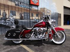 """This is my baby """"Ruby"""", a 2006 Harley-Davidson Road King Classic"""