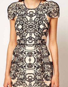 Enlarge Alice McCall Silk Cotton Dress With Flocked Print