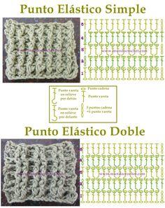 Como tejer punto elastico a crochet o ganchillo paso a paso08