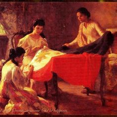 "Fernando Amorsolo's ""The Making of the Philippine Flag"""