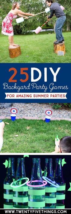 Use these DIY backyard party ideas to plan your summer parties for of July, . Use these DIY backyard party ideas to plan your summer parties for of July, Memorial Day, birthdays and more! Camping Parties, Outdoor Parties, Summer Parties, Outdoor Fun, Summer Fun, Summer Ideas, Summer Games, Diys For Summer, Outdoor Camping