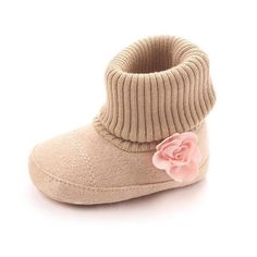 Toddler Flower Cotton Boots-Kacakid-Gray-1-TouchyStyle