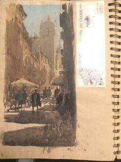 A View inside the Sketchbook's of joseph Zbukvic - josephzbukvic