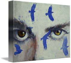 """""""Crows"""" by Michael Creese.  Find more stunning canvas prints at www.imagekind.com!"""