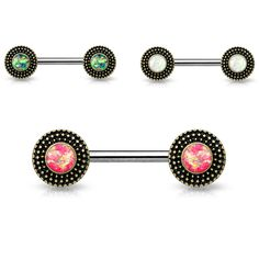 Covet Jewelry Triangle Shape with Beads 100/% Surgical Steel Septum Clickers
