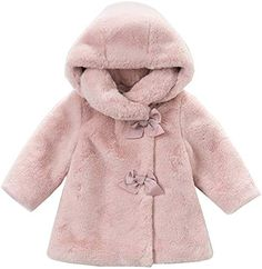 Baby Girls Spanish Style Romany Textured Faux Fur /& Bows Jacket Coat Soft Grey
