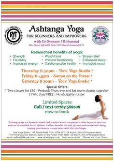 Ashtanga Yoga - York and Sutton on the Forest