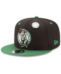 New Era Boston Celtics Pintastic 9FIFTY Snapback Cap - Black/Green Adjustable