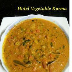Hotel Vegetable Kurma, How to make Hotel Vegetable Kurma