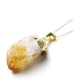 Een persoonlijke favoriet uit mijn Etsy shop https://www.etsy.com/listing/270952467/raw-citrine-necklace-orange-yellow-rough