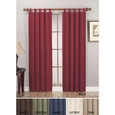 Lightweight Canvas Curtain Panel Pair - Overstock™ Shopping - Great Deals on Curtains