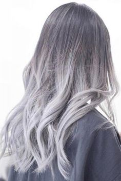 Silver Hair by Los Angeles Hair Stylist – Hair Colors Ideas Ash ombre hair color 2018 Los Angeles hairstylist. Ash Ombre Hair, Ombre Hair Color, Pink Hair, Grey Hair Inspiration, Hair Color 2018, Bright Hair Colors, Grunge Hair, Hair Day, Hair Trends